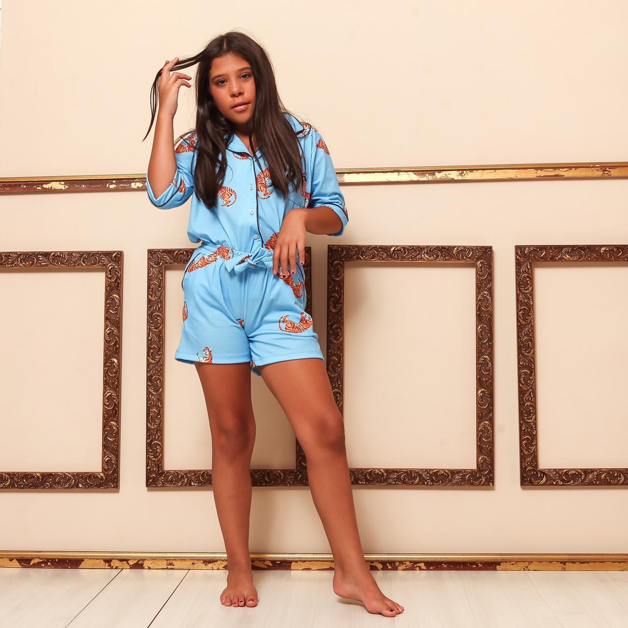 Pijama Homewear Turquesa Infantil