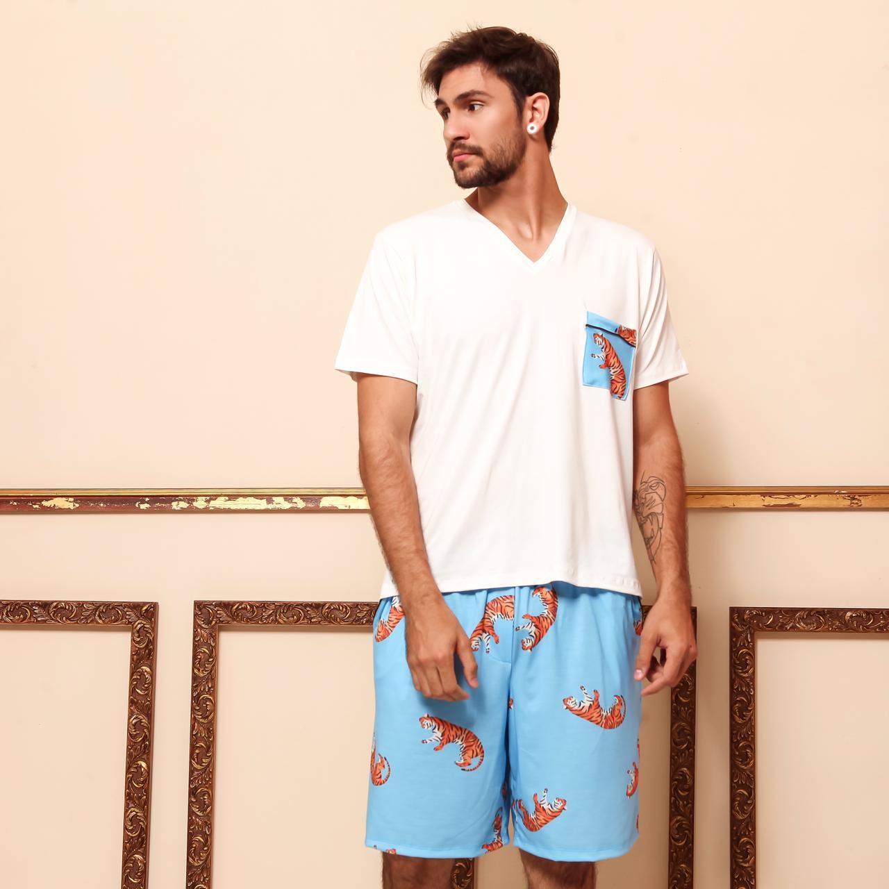 Pijama Homewear Turquesa Masculino