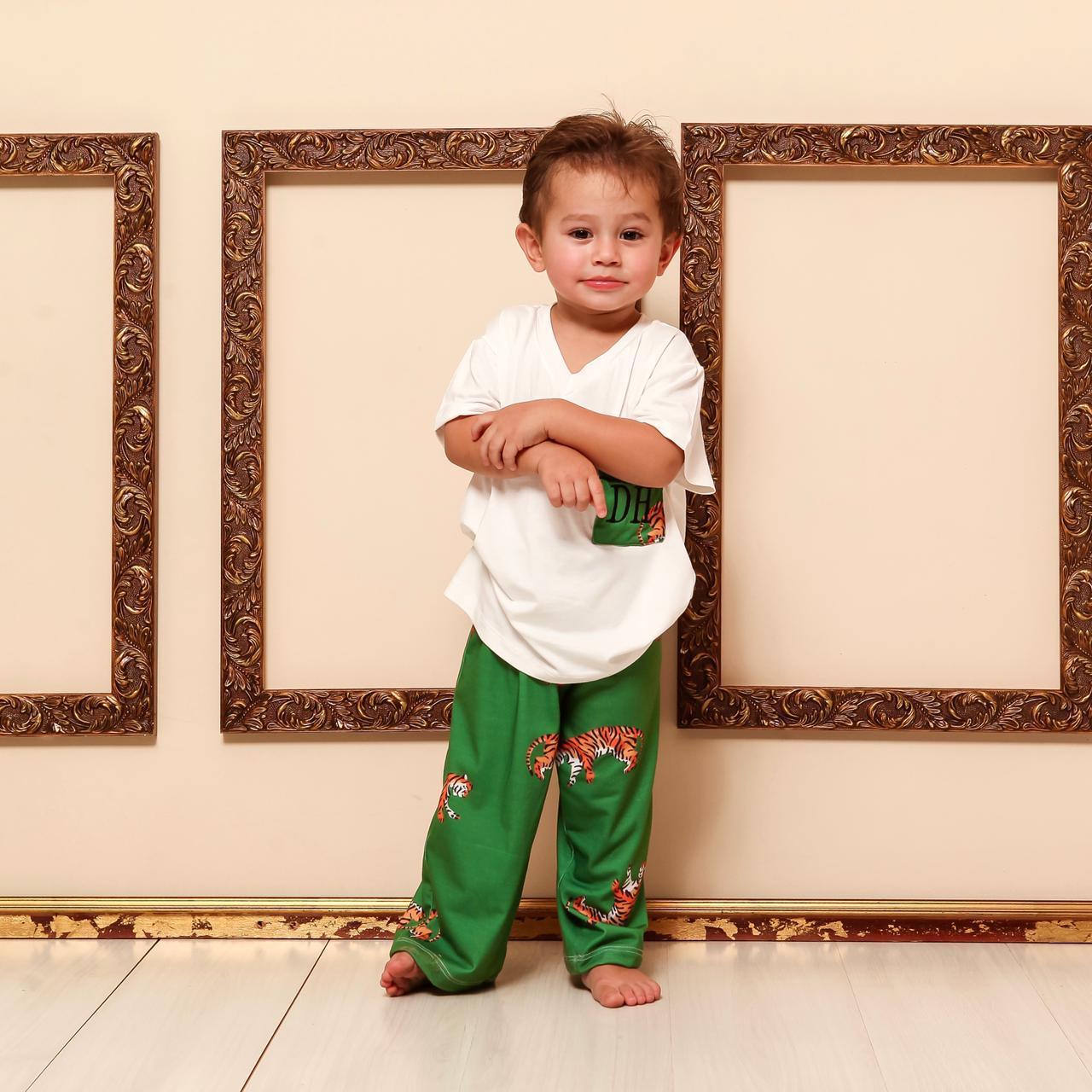 Pijama Homewear Verde Estampado Infantil
