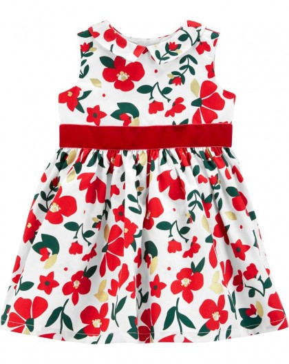 Vestido Floral Cetim