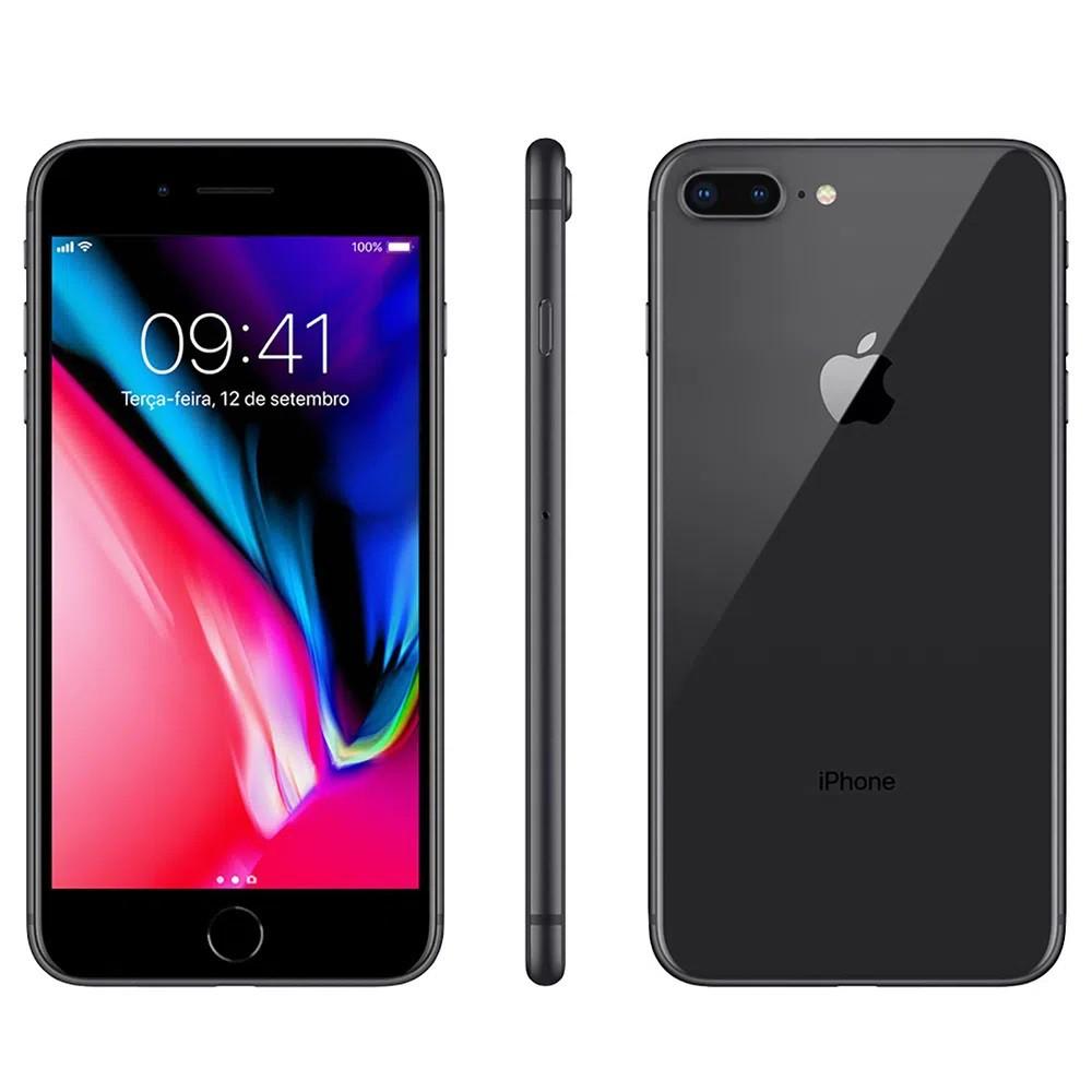 """iPhone 8 Plus Apple 64 GB RAM 3 GB iOS 13 Câmera 12 Mp Tela 5.5"""" - Usado"""