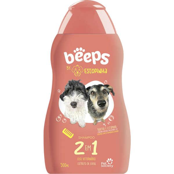 Beeps Estopinha Shampoo Pelos Curtos 2 em 1