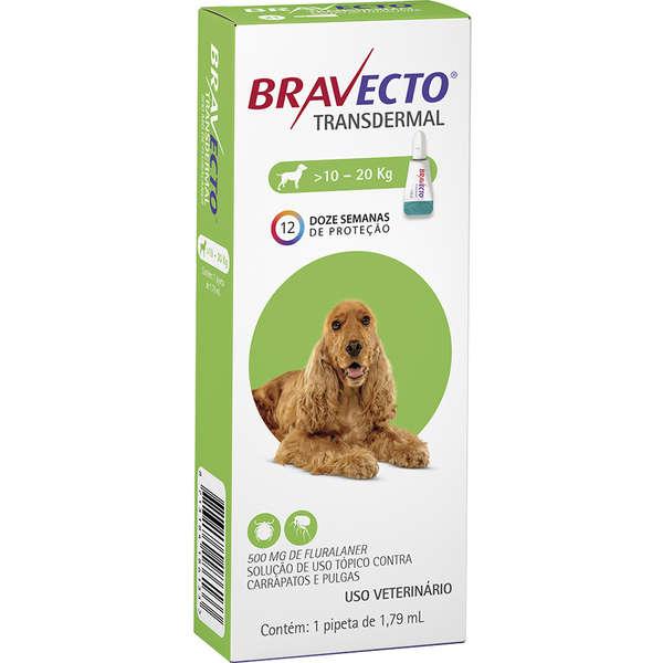 Bravecto Transdermal cães 500mg (10Kg a 20Kg)