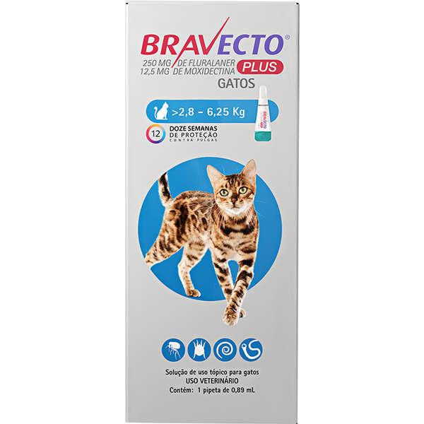 Bravecto Transdermal Plus para Gatos de 2,8 a 6,25 Kg
