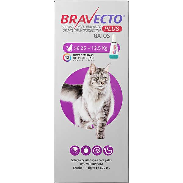 Bravecto Transdermal Plus para Gatos de 6,25 a 12,5 Kg