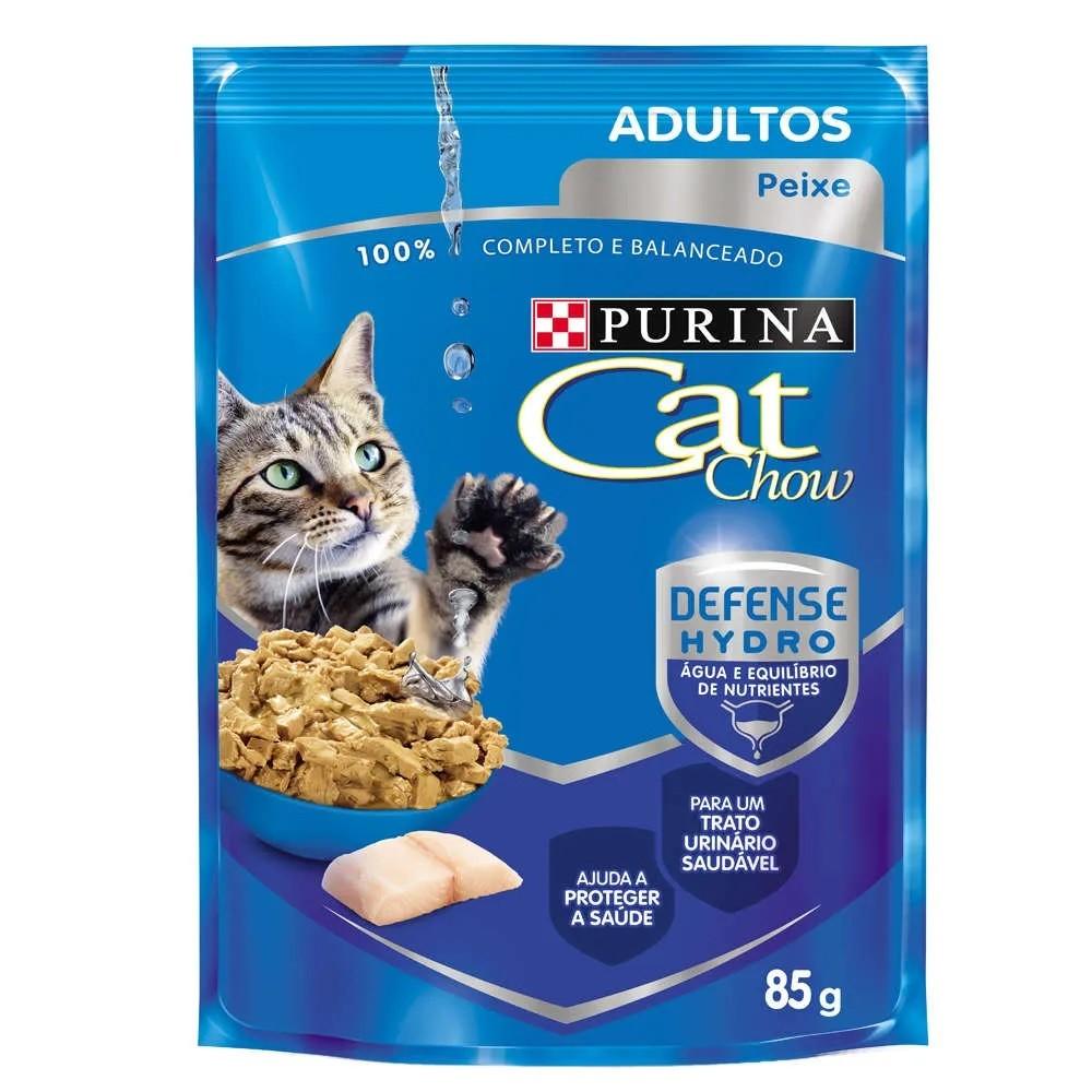 Cat Chow Sachê Adulto Peixe