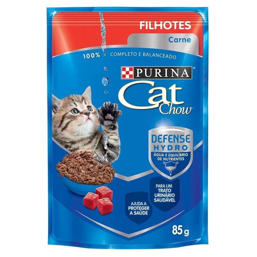 Cat Chow Sachê Filhotes Carne