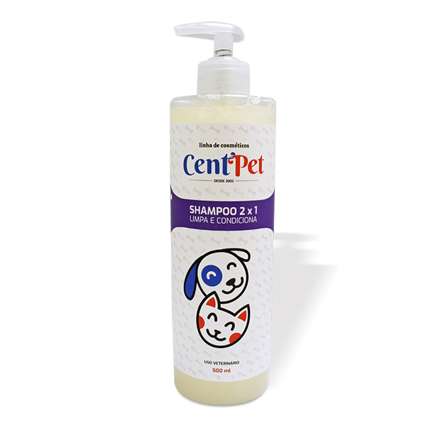 CentPet Shampoo 2X1 Limpa e Condiciona