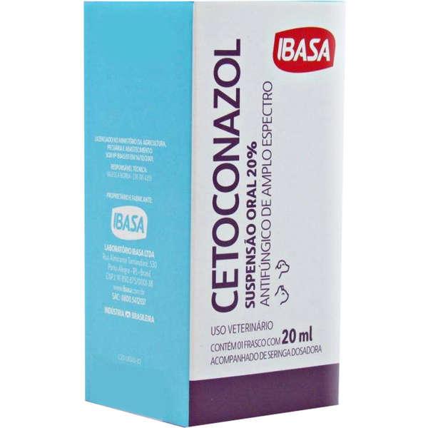 Cetoconazol 20% Suspensão 20ml - Ibasa