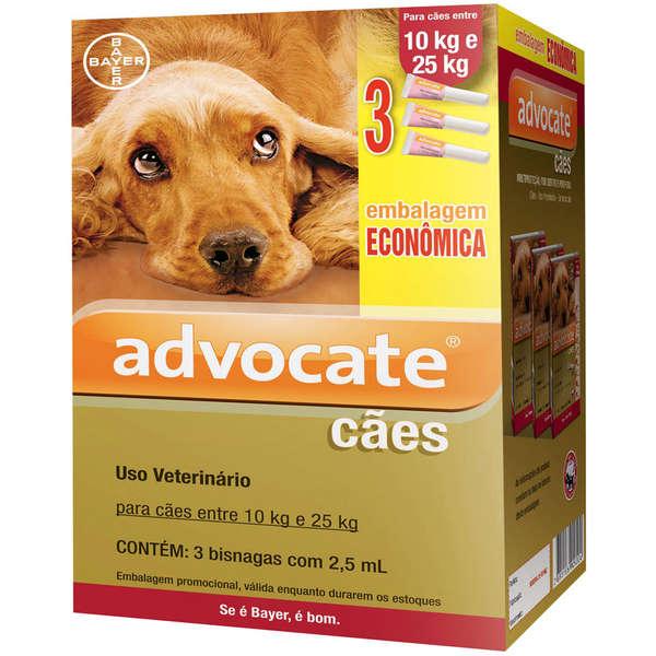 Combo Advocate Cães (10 a 25kg) 3 x 2,5ml