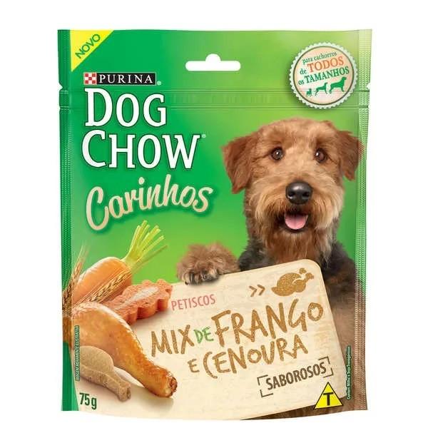 Dog Chow Carinhos Petisco Mix de Frango e Cenoura - 75g