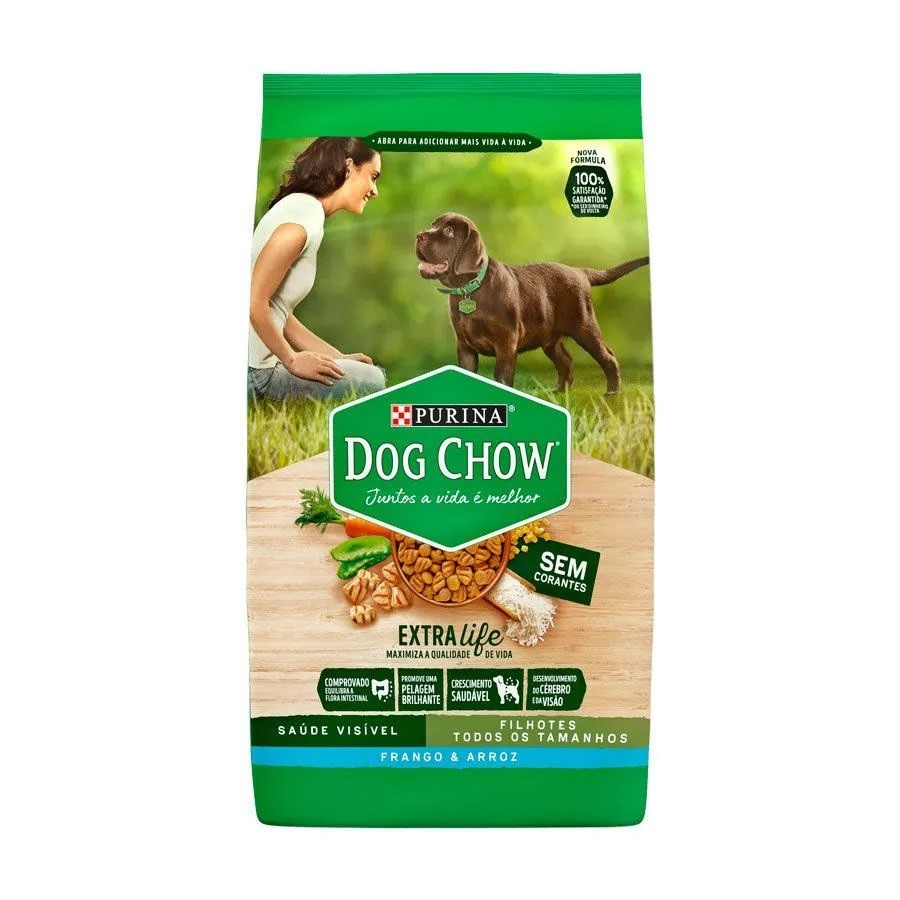 Dog Chow Raças Médias e Grandes Filhotes Frango e Arroz