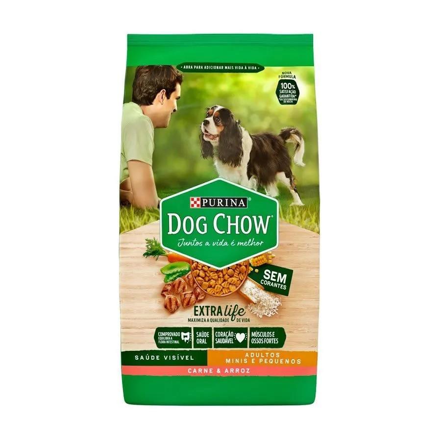 Dog Chow Raças Pequenas Adultos Carne e Arroz