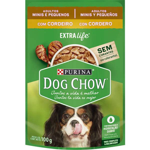 Dog Chow Sachê Cordeiro para Cães Adultos Porte Pequeno