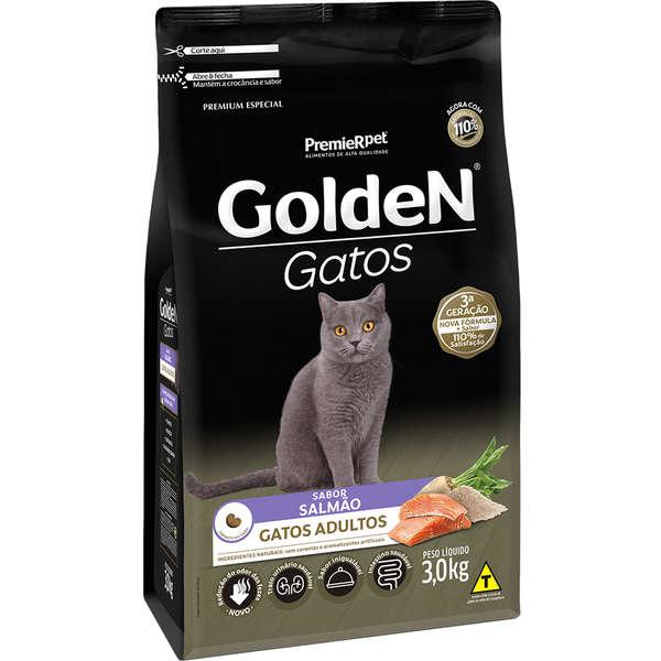 Golden Gatos Adultos Salmão