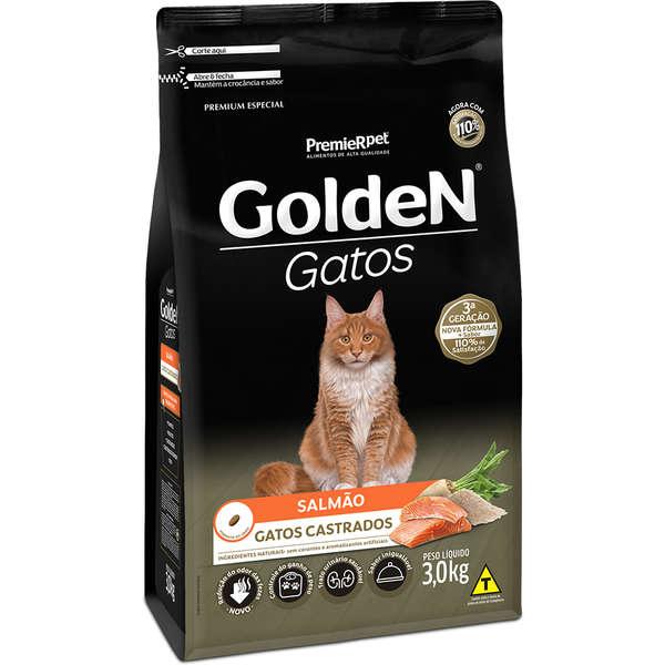 Golden Gatos Castrados Adulto Salmão