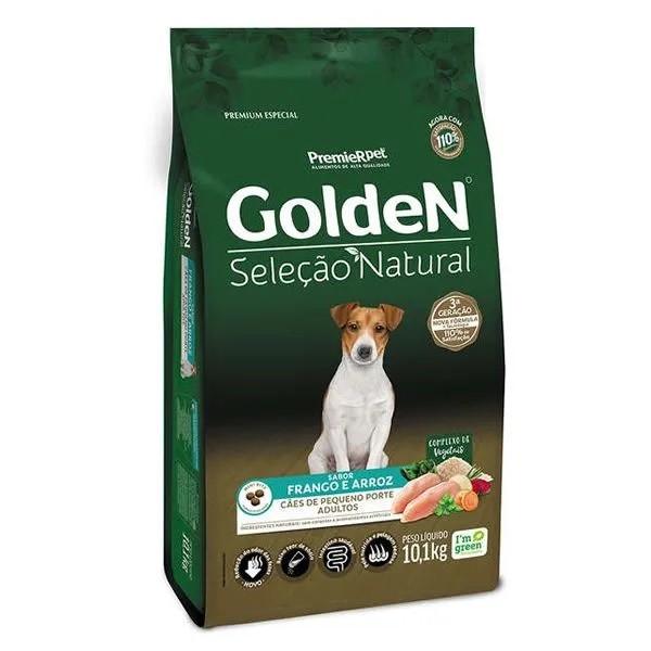 Golden Seleção Natural Cão Adulto Pequeno Porte Frango e Arroz
