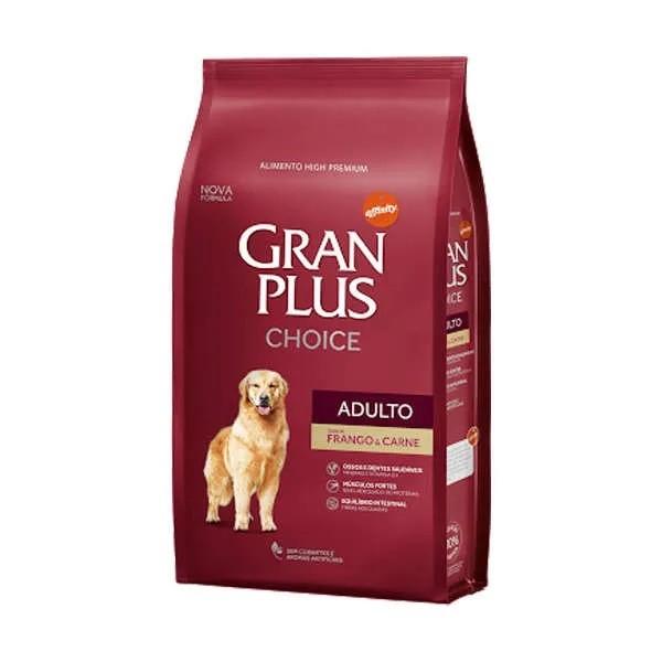 Gran Plus Choice Cão Adulto Frango e Carne