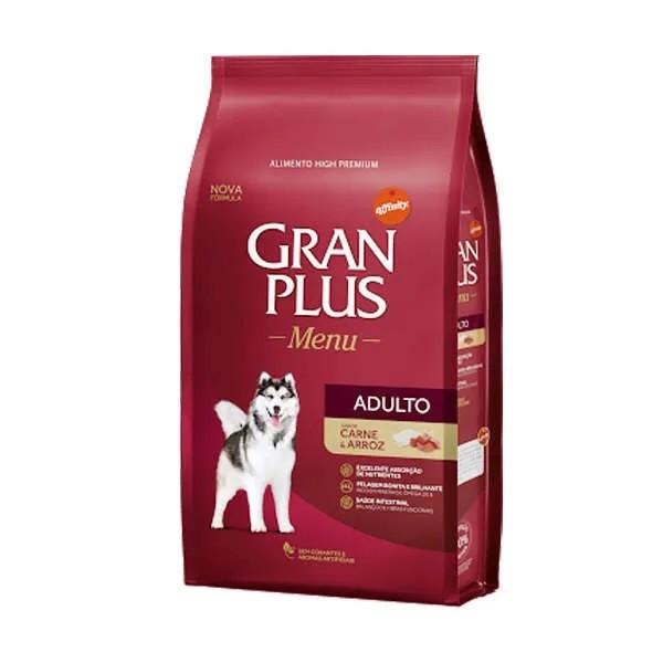 Gran Plus Menu Cão Adultos Carne e Arroz