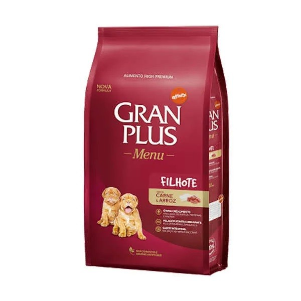 Gran Plus Menu Cão Filhote Carne e Arroz