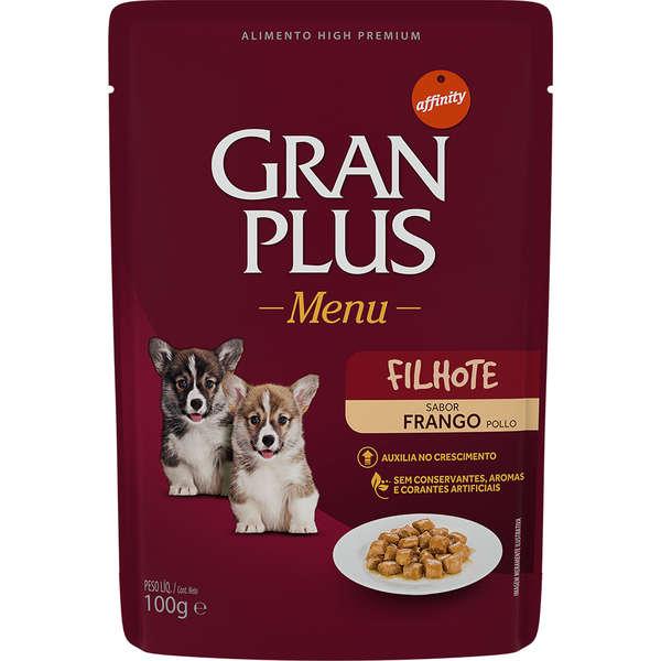 Gran Plus Menu Sachê Cão Filhote Frango