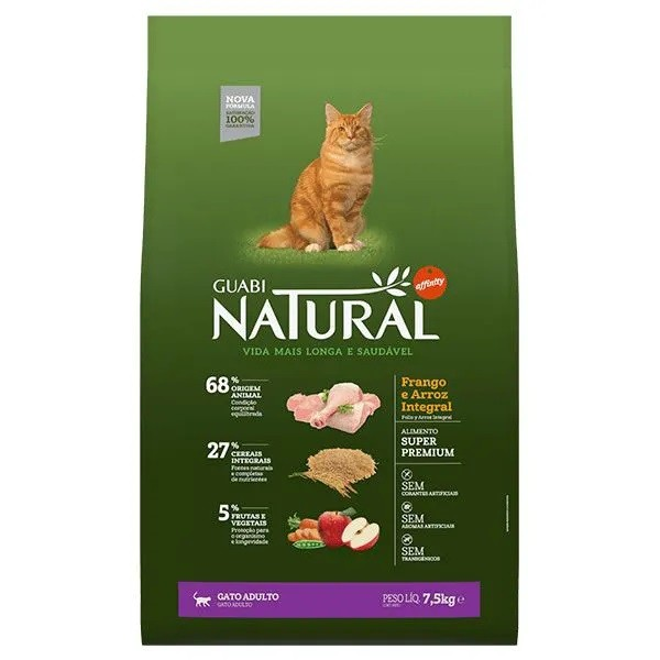 Guabi Natural Gato Adulto Frango e Arroz Integral