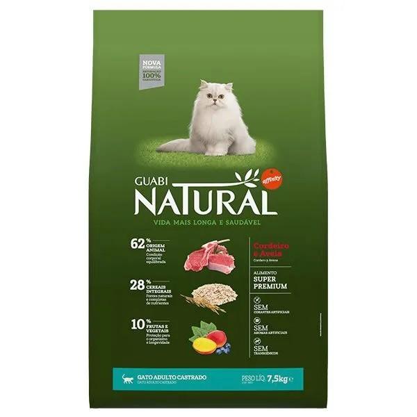 Guabi Natural Gato Castrado Adulto Cordeiro e Aveia