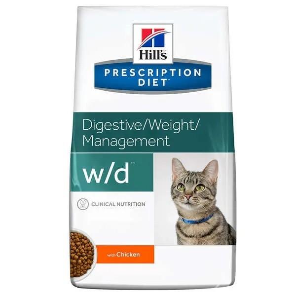 Hills Prescription Diet Feline W/D Controle Glicêmico e Digestivo