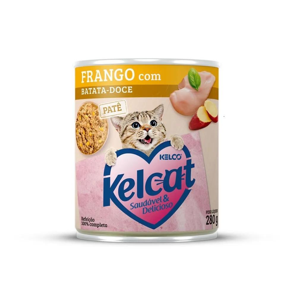 Kelcat Lata Patê Frango com Batata-Doce