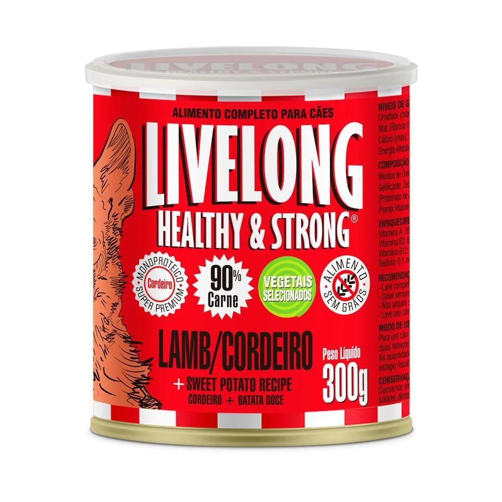 LiveLong Lata Cães Cordeiro