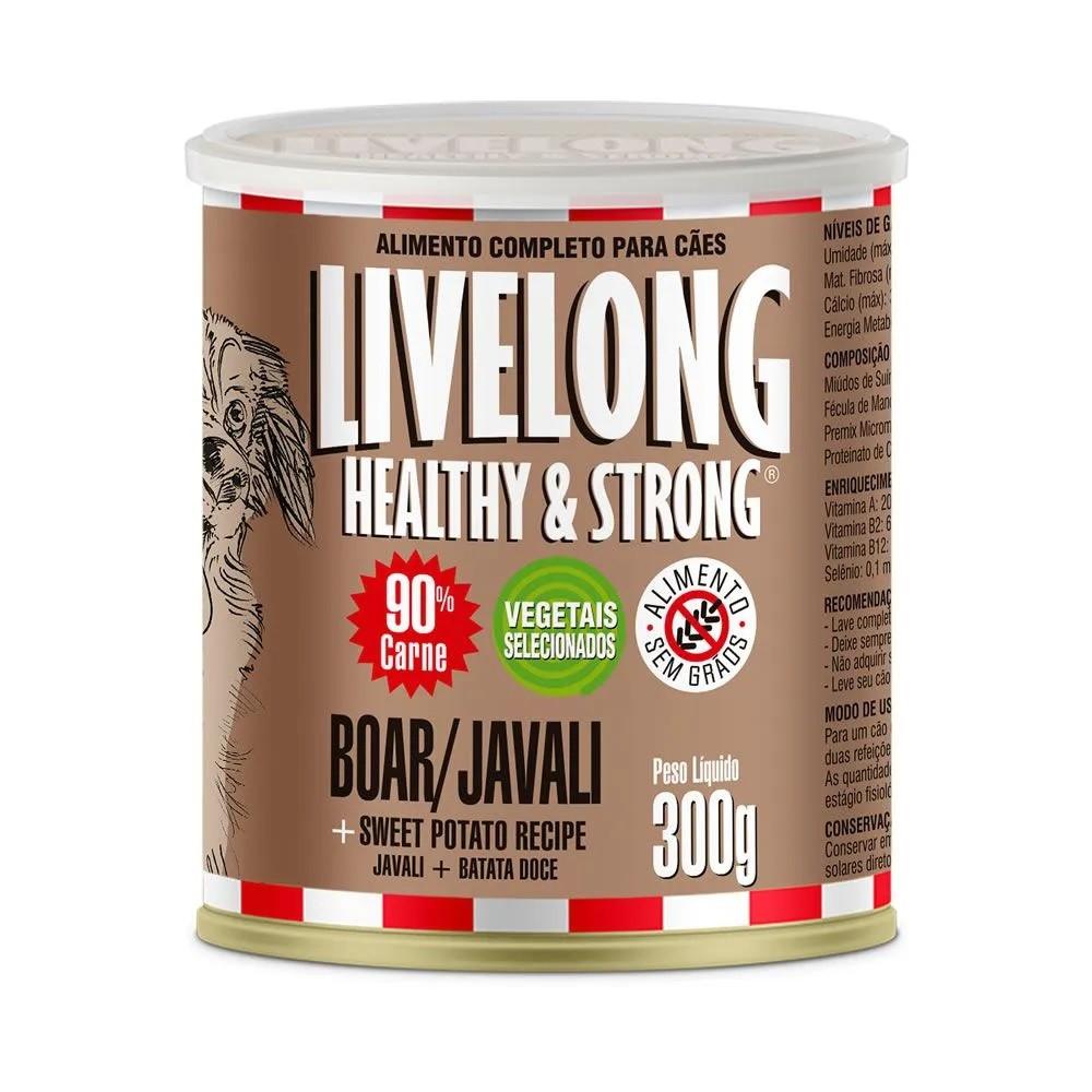 LiveLong Lata Cães Javali