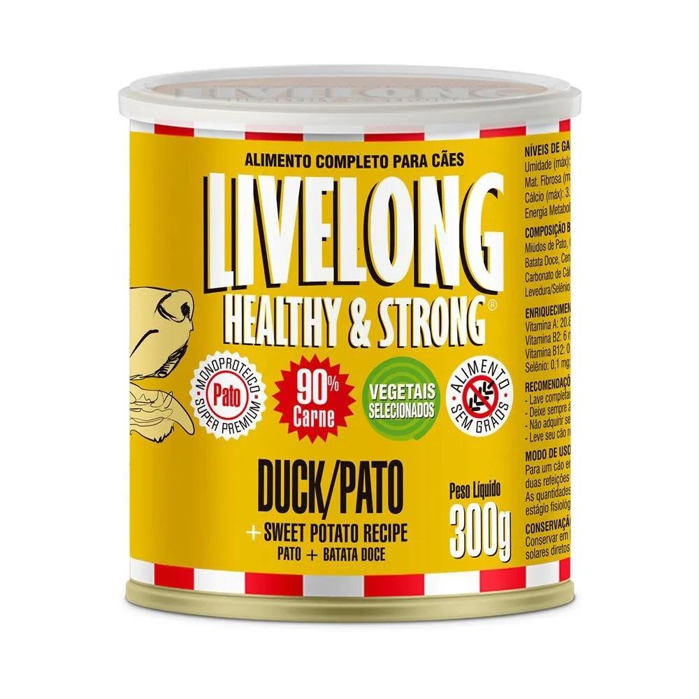 LiveLong Lata Cães Pato