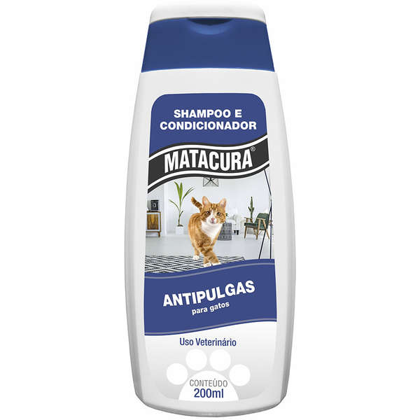 Matacura Shampoo Gatos Antipulgas