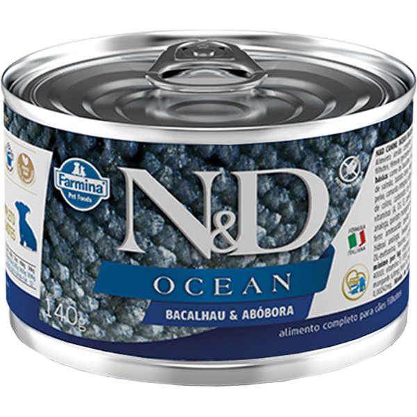 N&D Lata Ocean Cão Filhote Bacalhau