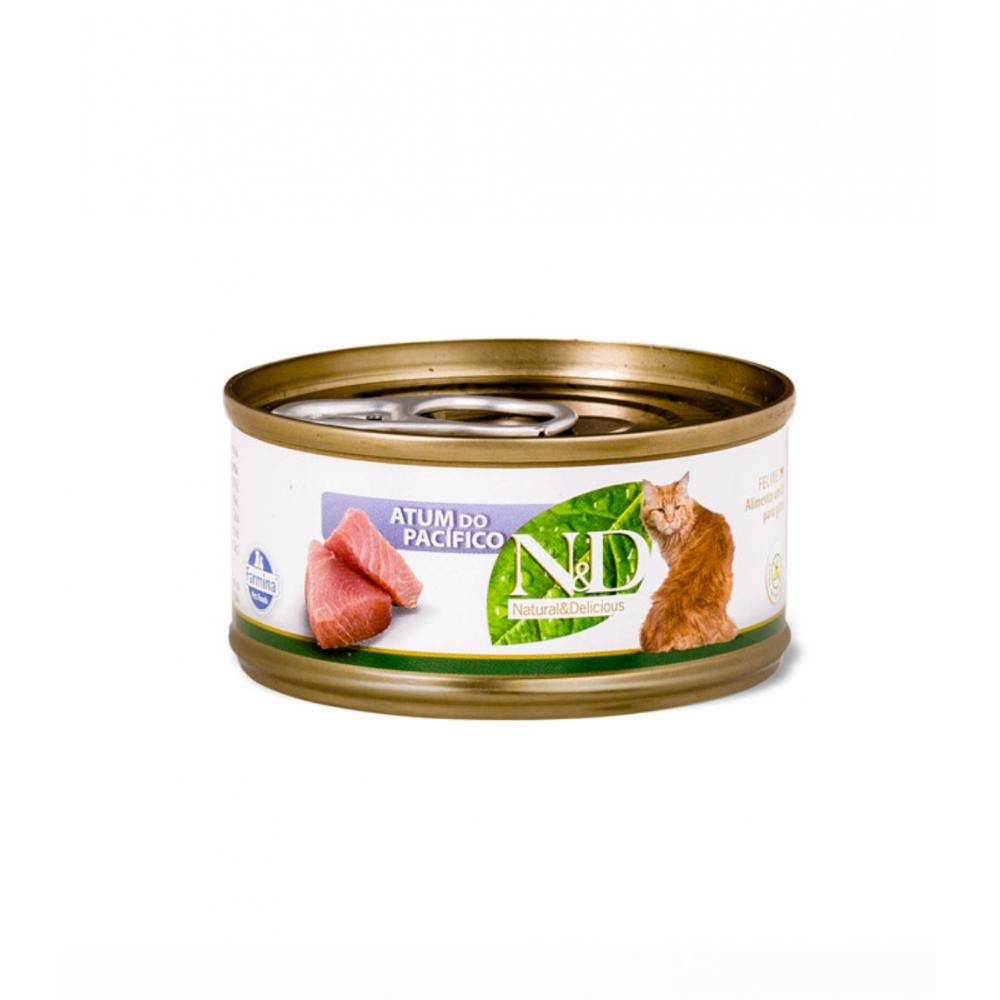 N&D Lata Gato Naural & Delicious Atum do Pacífico