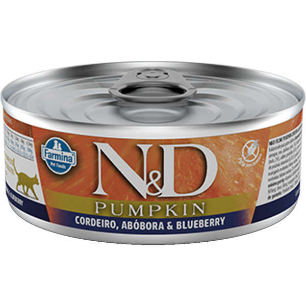 N&D Lata Pumpkin Gato Adulto Cordeiro