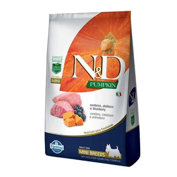 N&D Pumpkin Cães Adultos Raças Pequenas Abóbora com Cordeiro e Blueberry