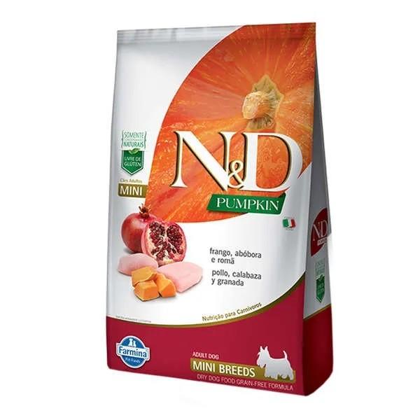 N&D Pumpkin Cães  Adultos Raças Pequenas Abóbora com Frango e Romã