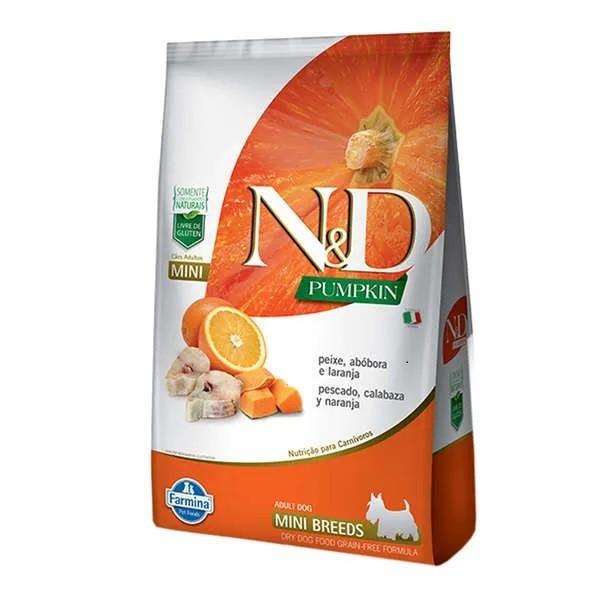 N&D Pumpkin Cães Adultos Raças Pequenas Abóbora com Peixe e Laranja