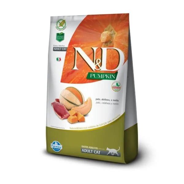 N&D Pumpkin Gatos Adultos Pato e Melão