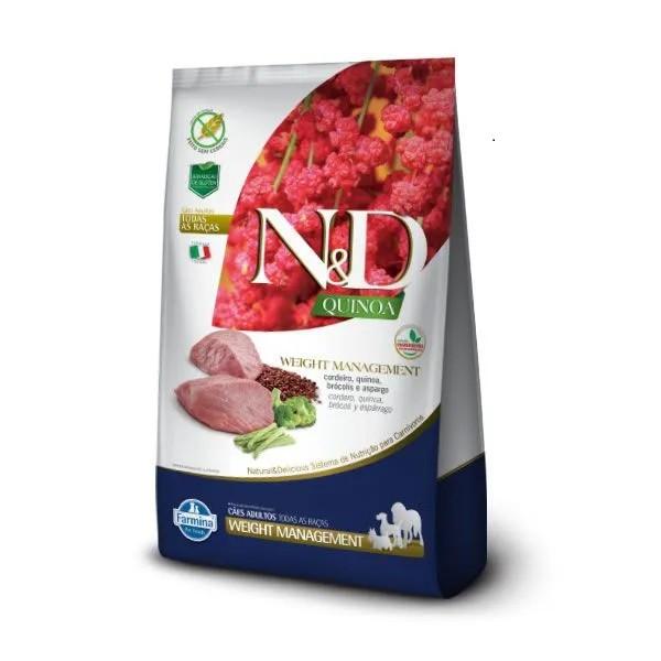 N&D Quinoa Cães Adultos Weight Cordeiro