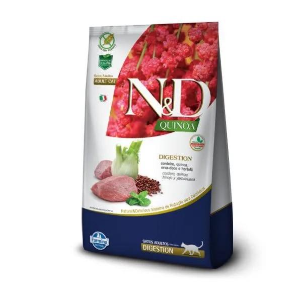 N&D Quinoa Gatos Adultos Digestion Cordeiro