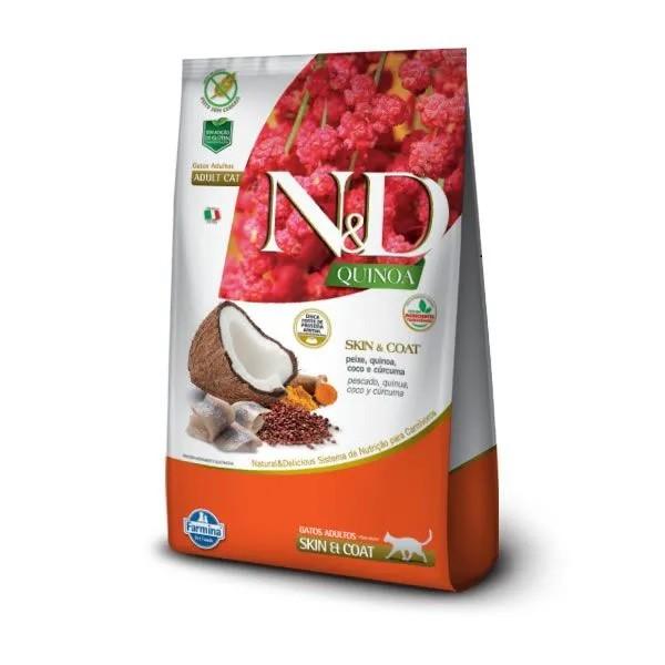 N&D Quinoa Gatos Adultos Skin Peixe