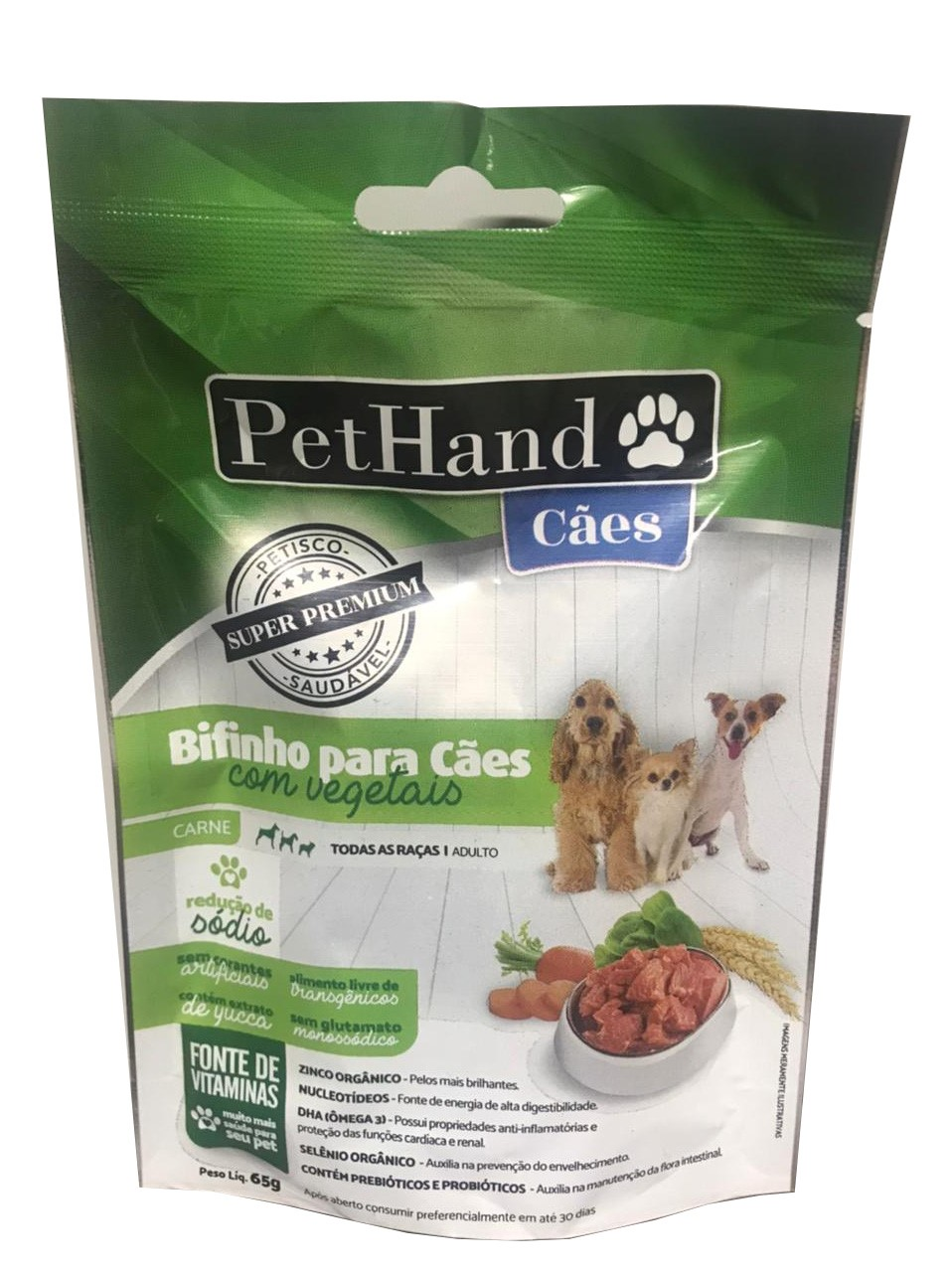 PetHand Cães Bifinho Super Premium Carne e Vegetais