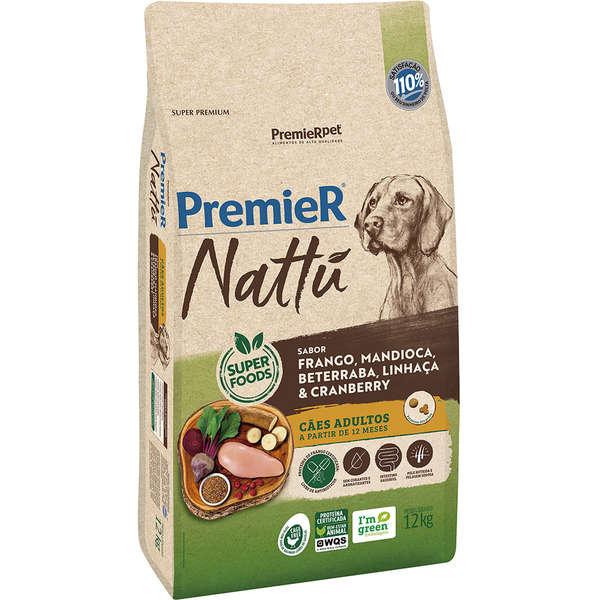 Premier Nattu Cão Adulto Mandioca