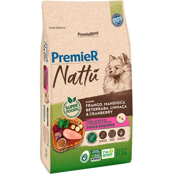 Premier Nattu Cão Adulto Raças Pequenas Mandioca