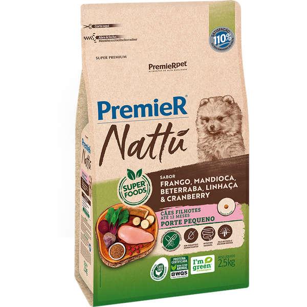 Premier Nattu Cão Filhote Raças Pequenas Mandioca