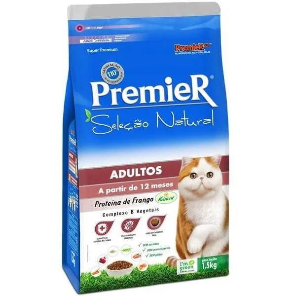 Premier Seleção Natural Gatos Adultos