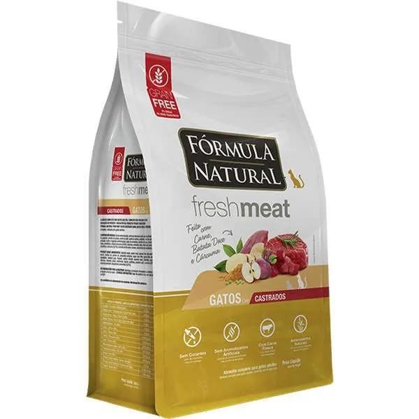 Fórmula Natural Fresh Meat Gatos Castrados Carne