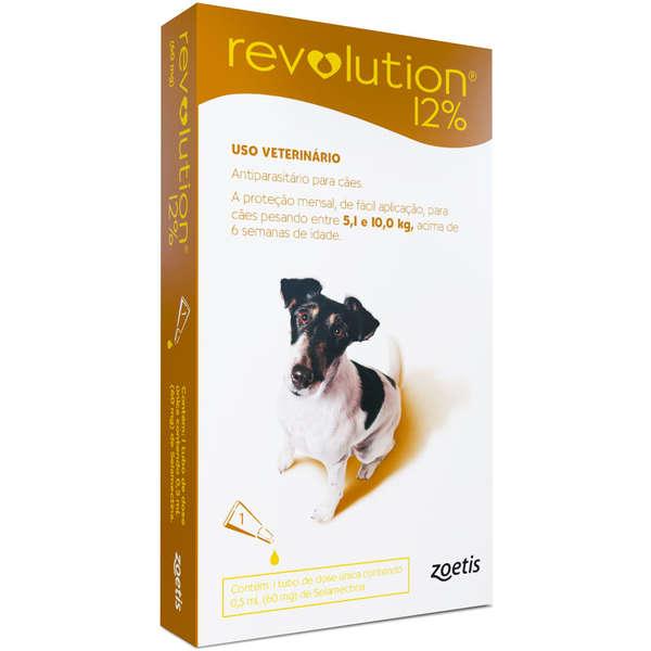 Revolution 12% cães (5,1Kg a 10Kg) 0,50ml